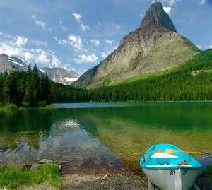 Swiftcurrent Lake Is Located In The Many Glacier Region Of National Park U State Montana