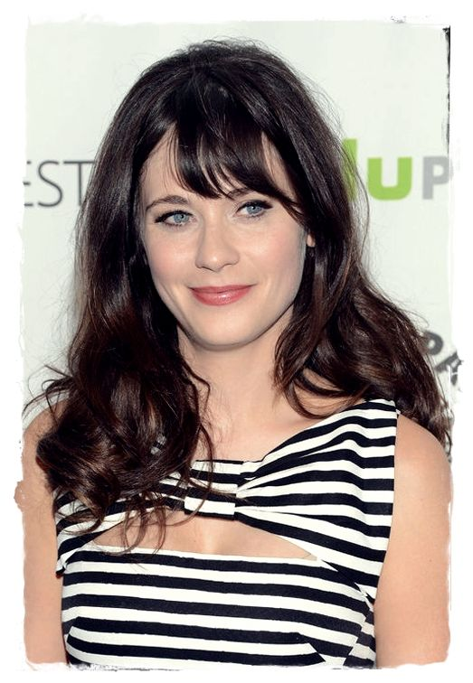Celebrity Inspired #Hairstyles - Zooey Deschanel Choppy Bang