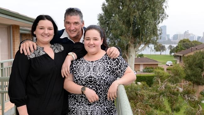 Tim Stubbs has bought an investment property with his daughters 20-year-old Tiana and 18-