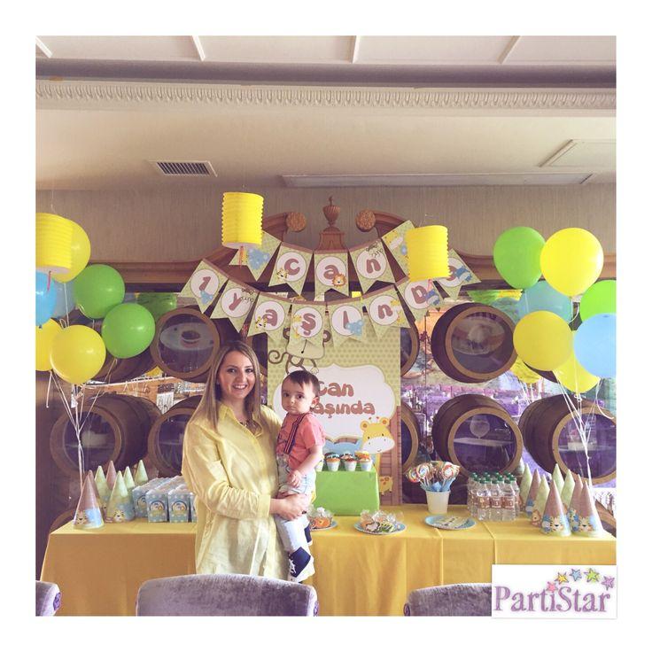 Safari temalı 1. YAŞ günü heyecanı...Can'a nice sağlıklı, mutlu yaşlar diliyoruz... #parti #partistar #party #partistarr #partimalzemeleri #partisüsleri #kişiyeözelparti #doğumgünü #doğumgünüsüsleri #doğumgünüseti #safari #safaritheme #safaritema #kidsparty #temaliparti #instaparty #partydetails #cocukpartisi