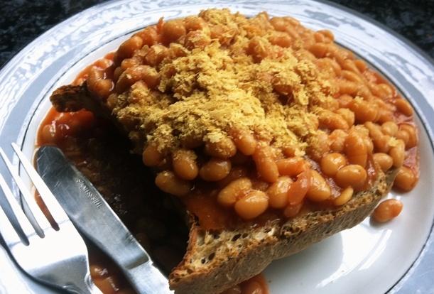 Baked Beans on Toast - British comfort food