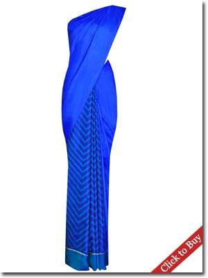 Royal Blue Saree for the Newly Wed - Best Fancy Saree Collections