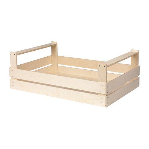 PRYTTLAR Contenitore IKEA Impilabile. Il contenitore è facile da estrarre e sollevare grazie ai manici.