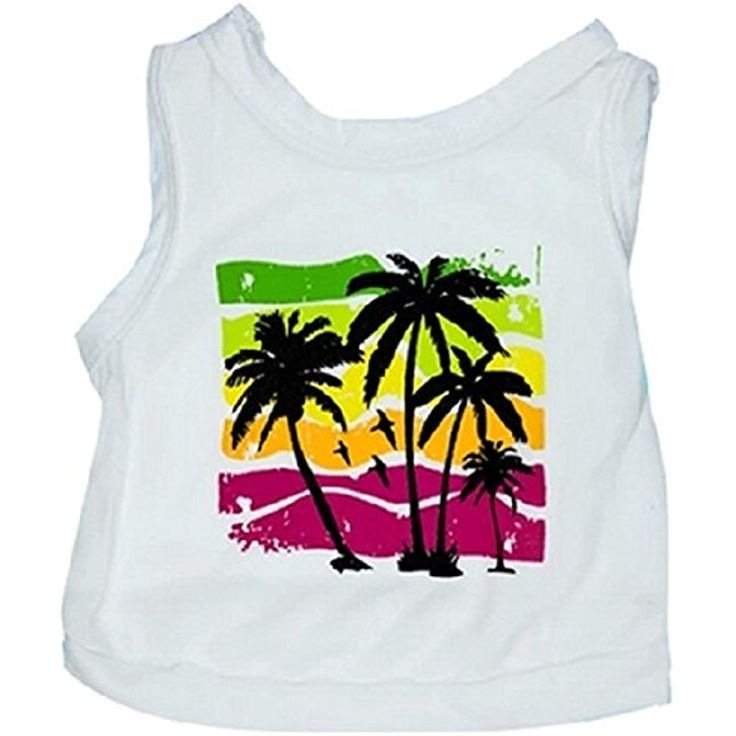 Ollypet Cute Puppy Dog Summer Clothes Shirt Tropical Beach For Small Pet Cat Tank Hawaiian Holiday Style Outfit M >>> For more information, visit image link. (This is an affiliate link) #Dogs