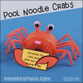 Crab Holding a Bible Verse or Note Card Vacation Bible School Craft