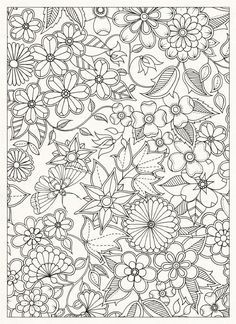 Coloring Page World Floral Print Portrait Secret Garden BookAdult