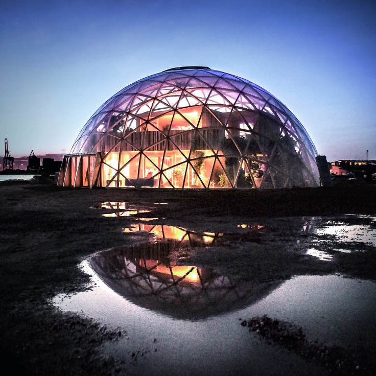 The finished dome is the result of a successful experiment with Kerto LVL, giving Aarhus and the European Capital of Culture a unique place for events in a spectacular wooden building.