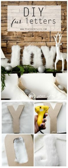 DIY Fur Decorative Letters. Use fur to decorate letters and add a touch of…