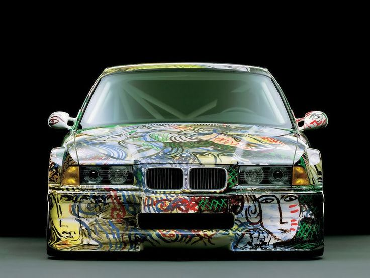 bmw art car 1992 bmw racing prototype italian born painter sandro chia was contracted to paint a touring racing car prototype from the bmw 3 series bmw office paintersjpg