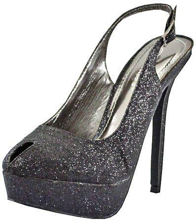 Breckelles Nicole-02 Black Glitter Women Platform Pumps, 8.5 M US Breckelles To see or buy click on Amazon here  http://www.amazon.com/dp/B005FCTPLI/ref=cm_sw_r_pi_dp_lJrLtb06BJYTS1Q0