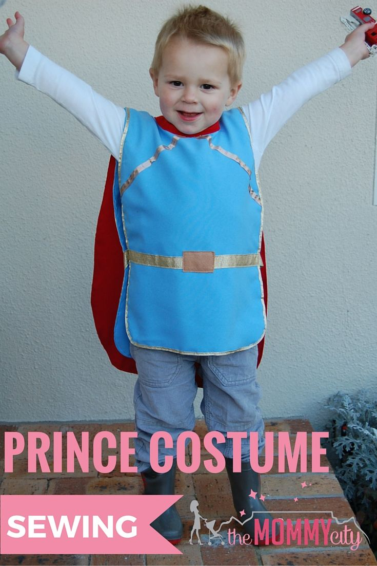 Disney's Snow White The Prince dress up costume DIY tutorial for boys by The Mommy City.