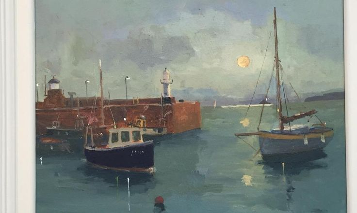 Eric Ward's St Ives nocturne in gallery £395.