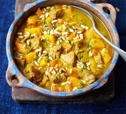 Sweet juicy apricots and tender butternut squash are a winner with kids and make for a delicious Middle Eastern family meal for toddlers through to teens and beyond