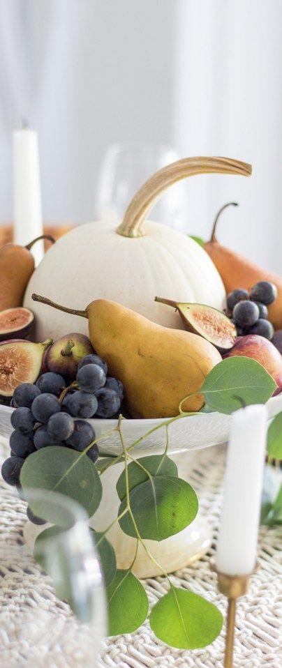 Fall Tablescape Using Fall Fruit #autumn #fall