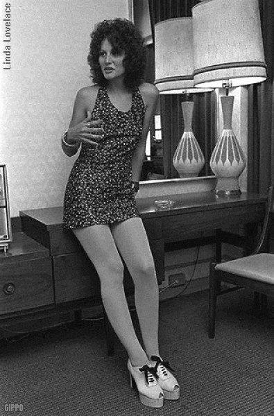 The halter dresses, and platform shoes Linda Lovelace 1972