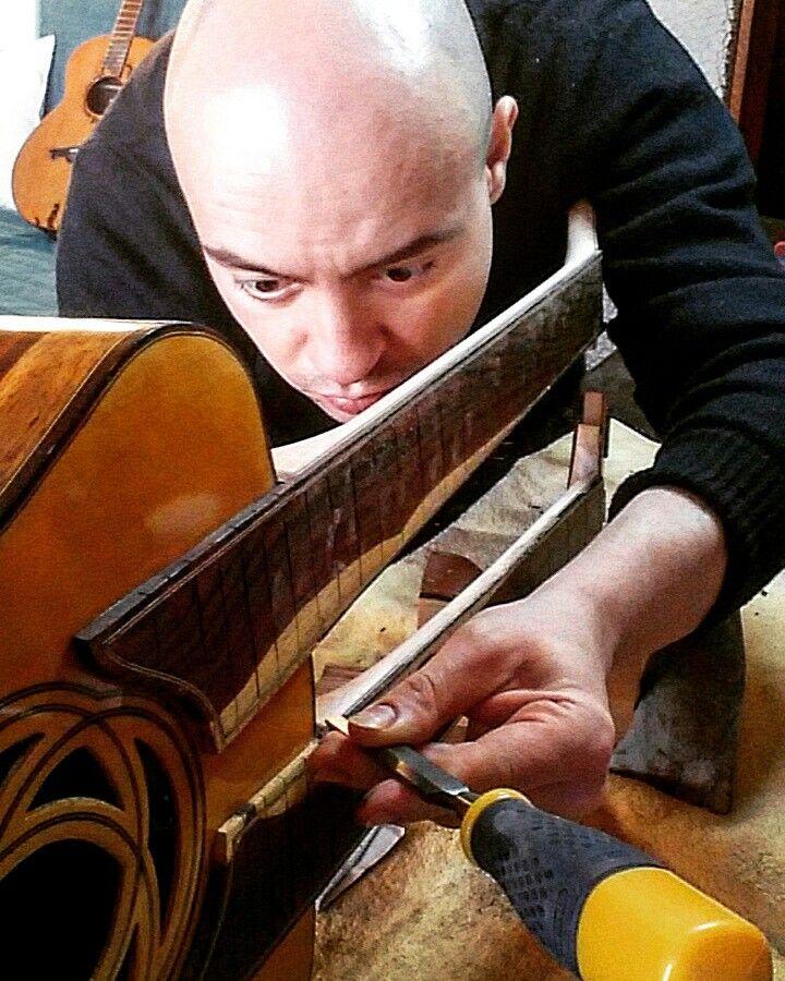 Double Neck guitar building