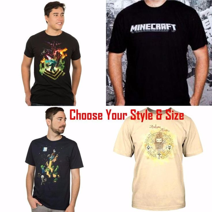 Minecraft Men Short Sleeve T Shirt Tee - Priced to Clear
