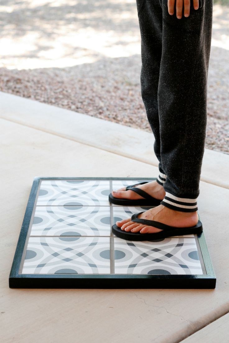 DIY Tile Doormat Lays Style at Your Doorstep- Learn how to make a cement tile doormat!