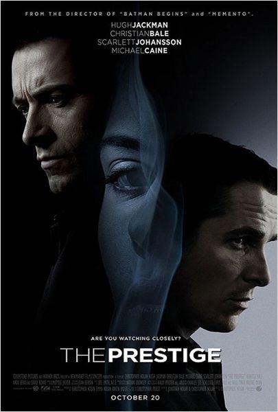 Le Prestige : affiche Christian Bale, Christopher Nolan, Hugh Jackman
