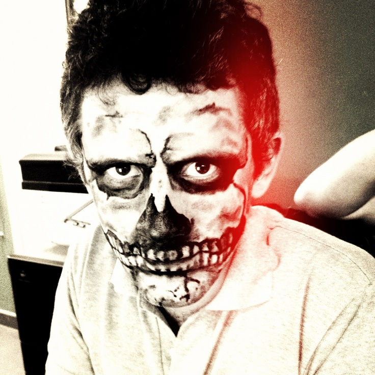 Marco's awesomely spooky Halloween make-up!