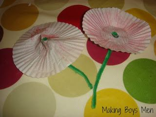 Making Boys Men: Poppy Craft for Rememberance Day