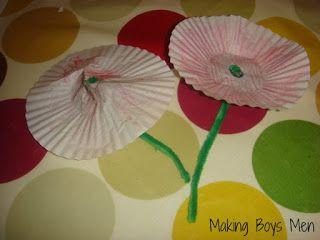 Making Boys Men: Poppy Craft for Rememberance Day