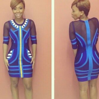 Styled Boity for BigBrotherAfrica dress trended for 2weeks 2013