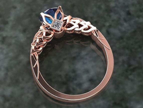 Alexandrite Engagement Ring In Either 14k Rose Gold Or 18k