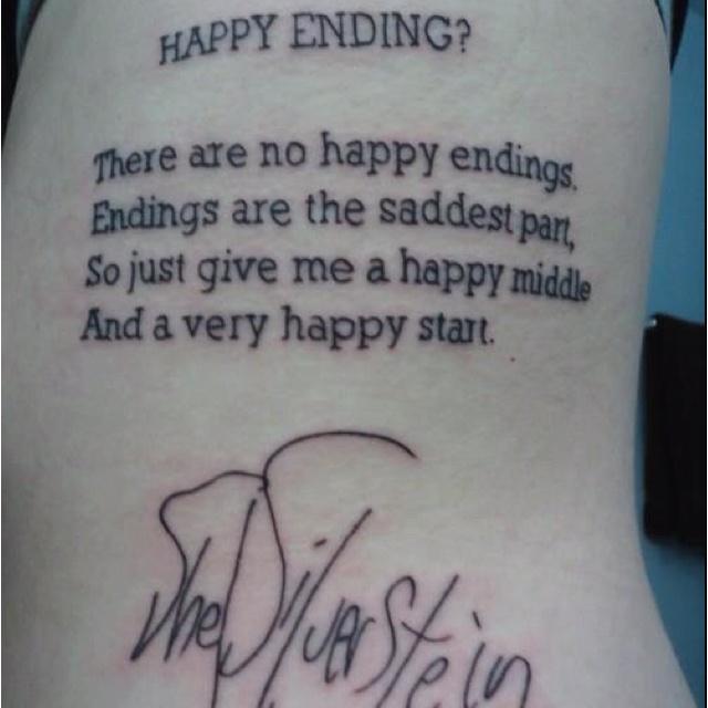 Happy ending tattoo