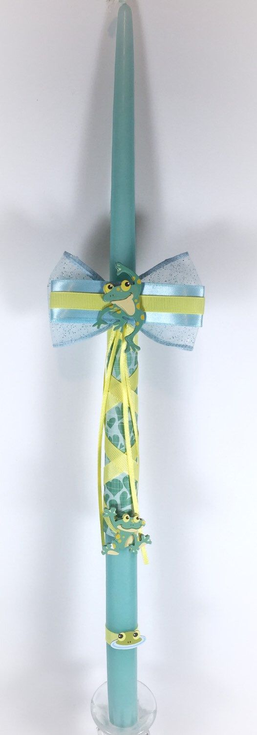 Frogs - Greek Easter Candle (Lambatha) by EllinikiStoli on Etsy https://www.etsy.com/listing/167830945/frogs-greek-easter-candle-lambatha
