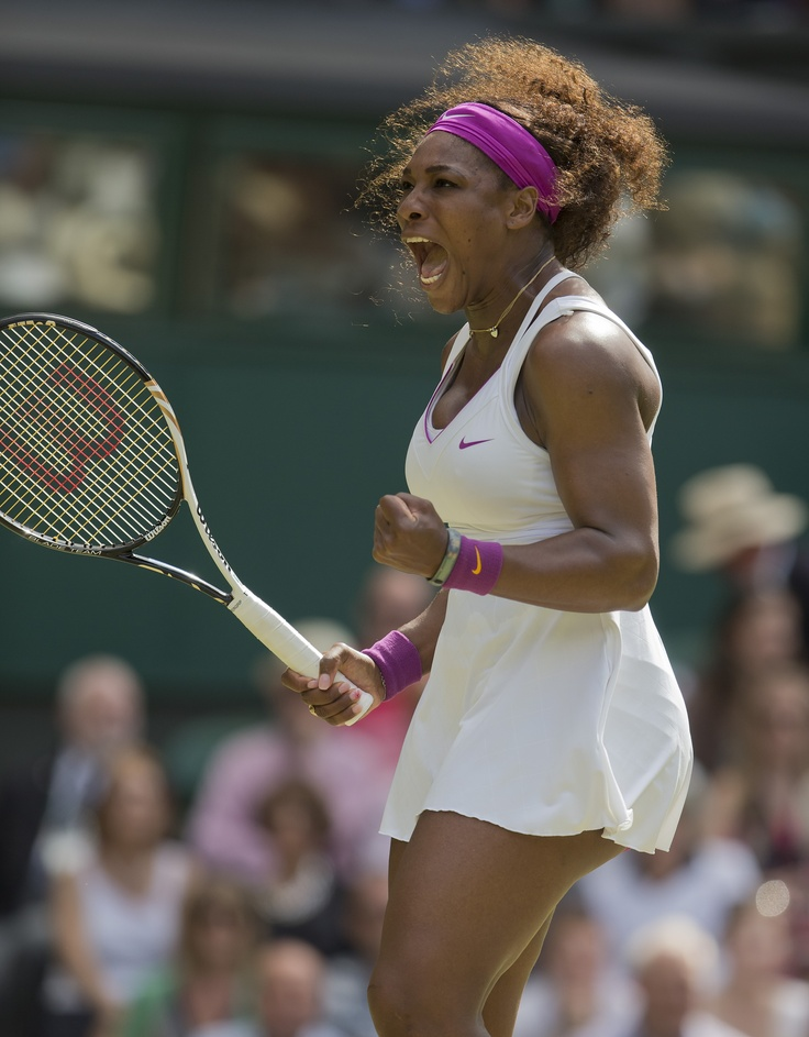 Serena Williams during her third round victory of Jie Zheng.  Serena will play for the Washington Kastles in the 37th season of World TeamTennis this summer.