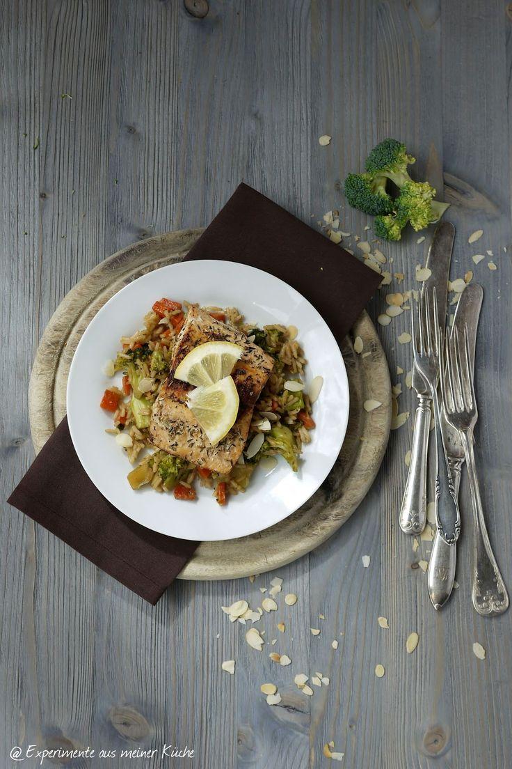 Brokkoli-Reis-Pfanne, Lachs, Reishunger, Brokkoli, Kochen