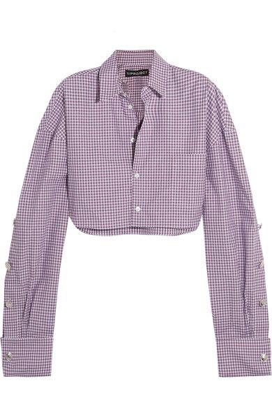 Spring '17 is only Y/PROJECT's second season of womenswear, but it's already a cult hit. Made from red, blue and white checked cotton-popin, this shirt has exaggerated buttoned sleeves that can be adjusted to your desired length. It has a loose boxy fit that sits away from the body, so high-waisted jeans or pants are a must - the brand's wide-leg style work perfectly.