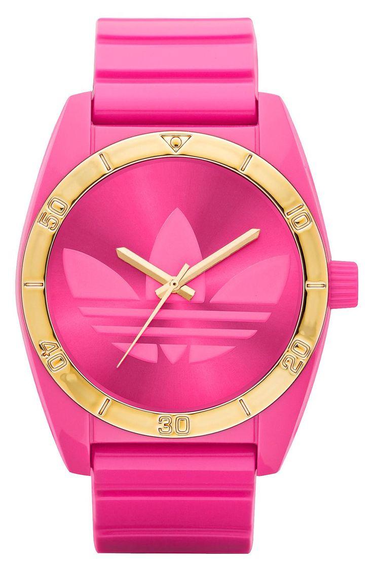 Adidas Originals adidas Originals 'Santiago' Neon Pink Watch - Wantering.com