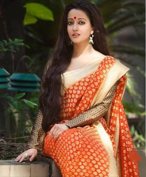 332 Best Images About Long Hair With Saree On Pinterest