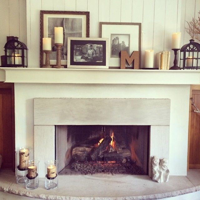 20 Simple Ways To Decorate A Fireplace Mantle With Flameless Candles Fireplace Mantle Decor Living Room With Fireplace Easy Home Decor