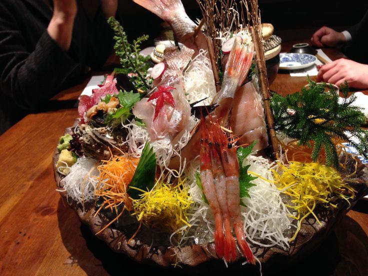 sasimi are Sea bream,Shrimp,Tuna, Yellowtail,Squid,Turban shell
