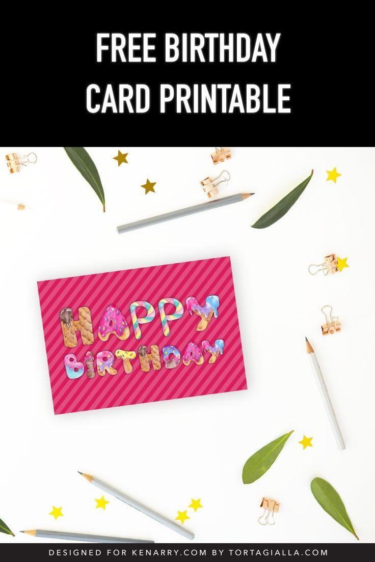 Free Birthday Card Printable Free Printable Birthday Cards Free Birthday Card Birthday Card Printable