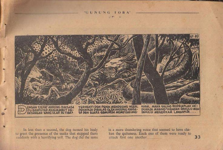 a panel from Kissah Gunung Toba, by Zam Nuldyn. Zam always drawn great dragon-like creatures...