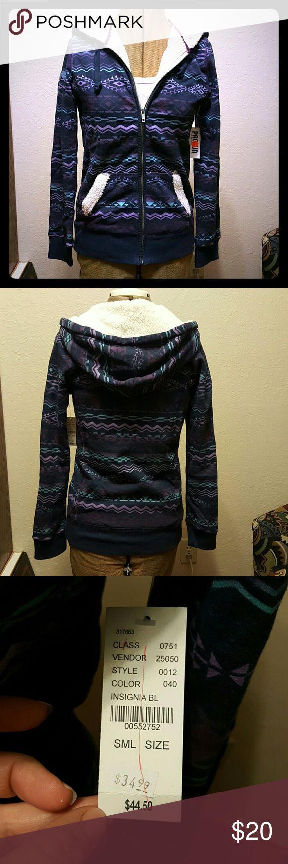 Nollie zip up hoodie Zip up hoodie with Aztec design and super soft inner lining. Nollie Tops Sweatshirts & Hoodies