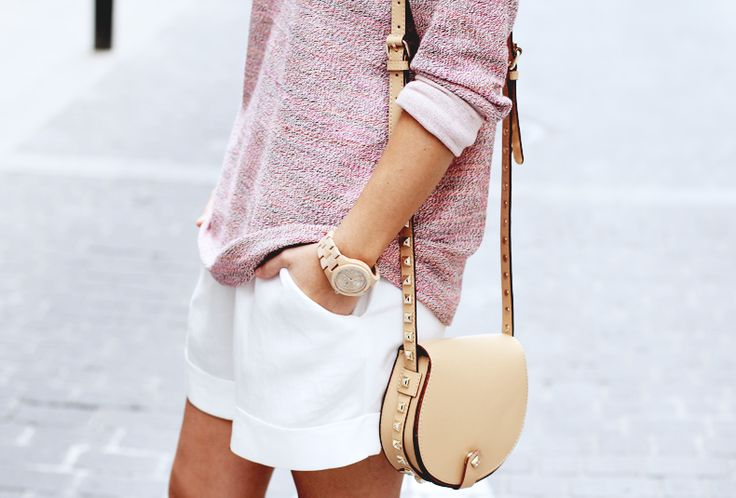 Sweater and shorts.
