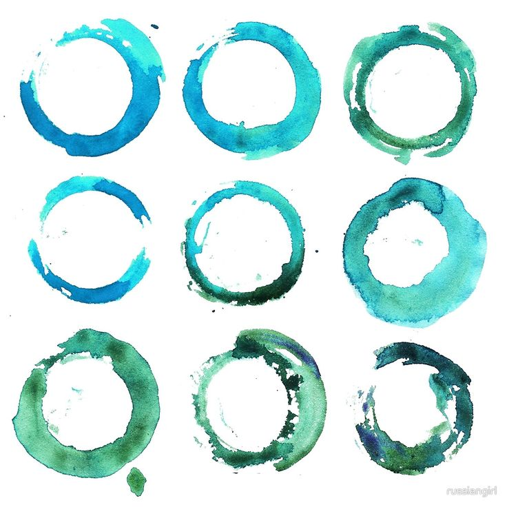 """""""Watercolor round and circle t-shirt print like a sea water"""" by russiangirl   Redbubble"""