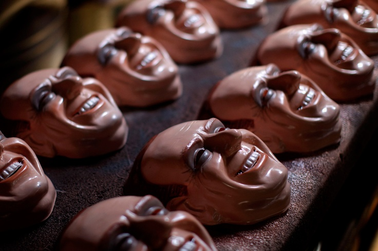 Nooooooo, also in Rio is to break the balls!!!!!  -  Carnival masks in the likeness of Italian Premier Silvio Berlusconi sit on a table at a mask making factory in Sao Goncalo, Rio de Janeiro state, Brazil, Friday Feb. 18, 2011. (AP Photo/Felipe Dana)