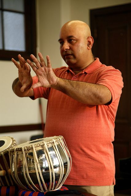 Samir Chatterjee - a virtuoso Tabla player from India. 9.8.13 docrehearsal 7 by jvanproductions, via Flickr