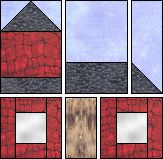 Ohio Schoolhouse paper piecing quilt pattern