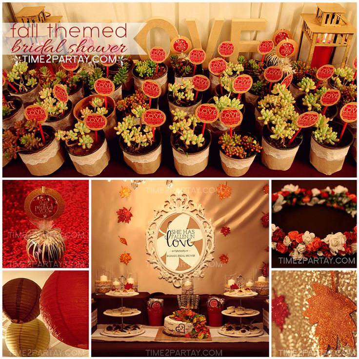 37 best fall themed party ideas images on pinterest birthday dinners fall theme parties and - Bridal shower theme ideas for fall ...