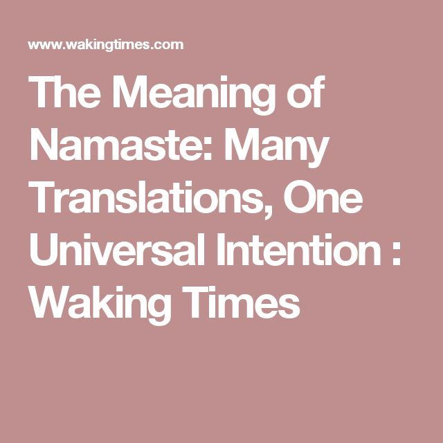 The Meaning of Namaste: Many Translations, One Universal Intention : Waking Times