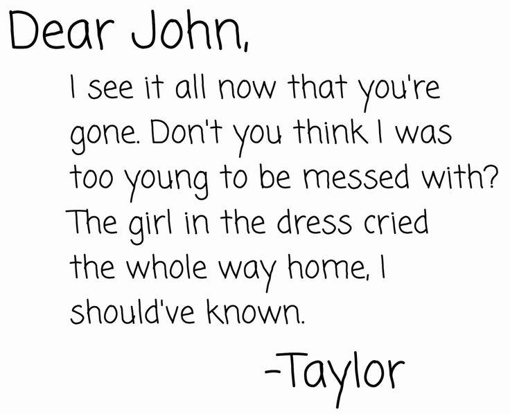 dear john taylor swift quotes - photo #37