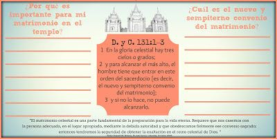 The Things I Love: Marriage and Family - August Youth Handouts {English & Spanish}