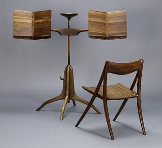 SAM MALOOF // Maloof's sculptural style from the Scandinavian Modern-inspired designs of the